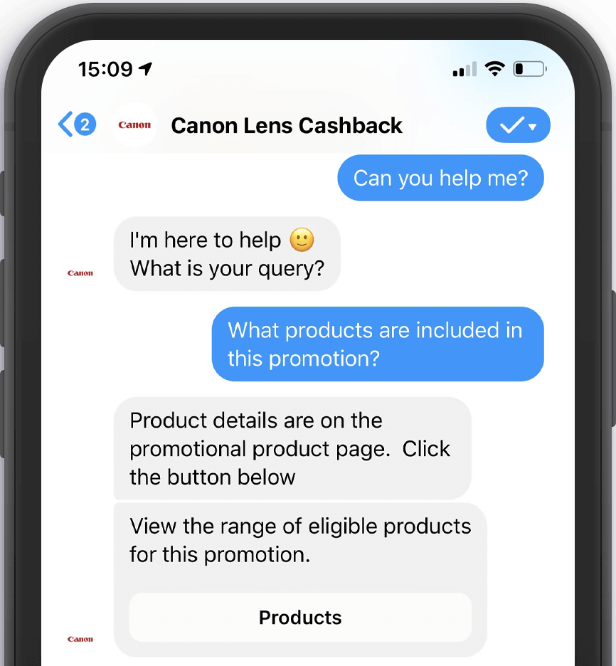 Canon Promotion Chatbot